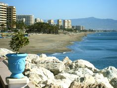 Torremolinos, Spain....I slept on this beach - under a upended paddle boat when I was young.