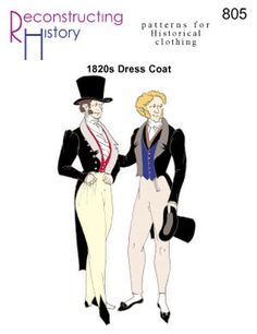 RC805  1820s Dress Coat Pattern by patternsoftime on Etsy, $26.95