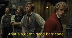 The Real Les Mis Captions - love this! Theatre Nerds, Musical Theatre, Theatre Plays, Theater, Victor Hugo, Les Miserables Funny, Enjolras Grantaire, George Blagden, French Man