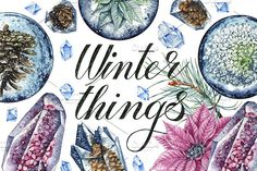 Winter things by Watercolor life on @creativemarket
