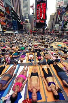 On Display: Solstice in Times Square, Mind over Madness Yoga:...