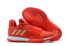 Men s adidas Harden Vol. 3 Red Rose Metallic Gold-White shoes Espadrilles a3aca2fef