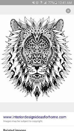Mandala lion idea