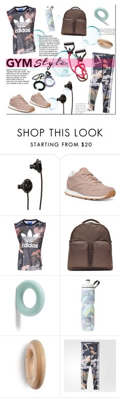 """Gym Style!"" by tatajrj ❤ liked on Polyvore featuring SOL Republic, Reebok, adidas Originals, HAY and Victoria's Secret"
