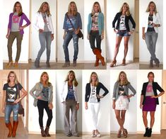 2011 Styling tips: I love graphic tees under blazers and I also love adding a random pop of color with a graphic tee that exists no where else in your outfit. A third way to wear them is to match a graphic tee to another color in your outfit so that both pieces really pop.