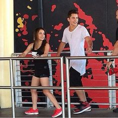 Becky G and Austin Mahone at Orland