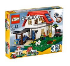 LEGO Creator - 3 in 1 Family House Set 5771 Packed with details, such as sound brick with doorbell and barking dog sounds, opening roof, two-storey interior with stairs and fireplace, car with carport, grill area with fold-up chair and French w http://www.comparestoreprices.co.uk/childs-toys/lego-creator--3-in-1-family-house-set-5771.asp