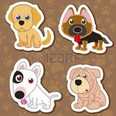 dibujos de perritos tiernos animados - Buscar con Google