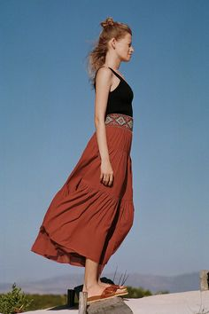 Tresor Tiered Maxi Skirt | Anthropologie