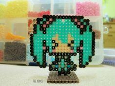 Hatsune Miku perler beads by TheRomeo LN