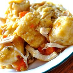 """Slow Cooker Chicken and Dumplings   """"This is an easy slow cooker recipe that cooks while you are at work! It is wonderful on a cold, snowy day. I have four children who are picky eaters, and they LOVE this! Enjoy!"""""""
