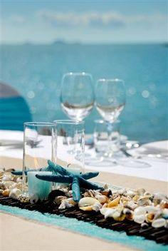 "Image detail for -Do Events Whitsundays "" title=""Shore aqua table setting. Image: I ..."