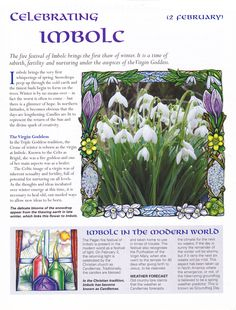 Imbolc:  Celebrating #Imbolc.