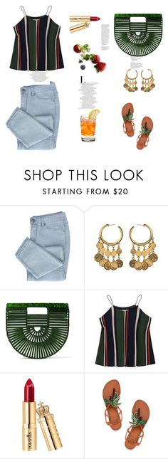 """summer beauty"" by black-eclipse-red-sky ❤ liked on Polyvore featuring Ben-Amun, Cult Gaia and Tory Burch"
