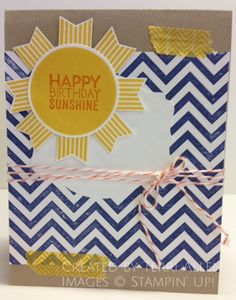 Sunshine Birthday   Stampin' Up!