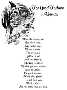 Good Fortune in Winter Hedge Witch, Magick Spells, Good Fortune, Sabbats, Practical Magic, Winter Solstice, Winter Equinox, Book Of Shadows, Spelling