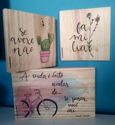 Lettering Tutorial, Hand Lettering, Wood Crafts, Diy And Crafts, Arts And Crafts, Diy Air Dry Clay, Holiday Club, Wood Names, Arte Country