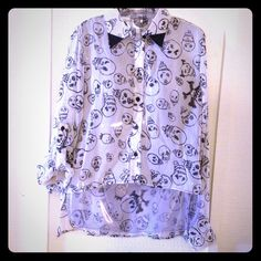 Black & white This top it's great for day time and night , unique print and great colors , 100% polyester, new !!! Mono B Tops