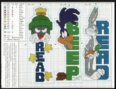 Character Cross Stitch Bookmarks
