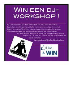 Like mijn facebookpagina facebook.com/djschooldoetinchem en maak kans op een gratis dj-workshop!