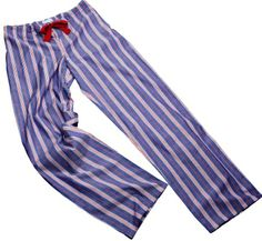 Navy and Red Stripe Pyjama Bottoms, from a selection at www.thepyjamahouse.co.uk