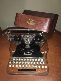 Exceptional Antique Hammond Multiplex Typewriter & Oak Case No Reserve WOW!