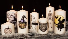 Best DIY Halloween Candles Of 2018 There are different kinds of halloween decorations happen during the halloween season. Here are some amazing ideas of decorating DIY halloween candles for you, Lets take a look on it! Casa Halloween, Halloween Candles, Halloween Goodies, Creepy Halloween, Halloween Design, Holidays Halloween, Halloween Themes, Halloween Crafts, Halloween Decorations