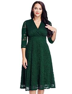 2fce0fd186f Womens Lace Plus Size Mother of the Bride Skater Dress Bridal Wedding Party  Green 20W     Continue to the product at the image link.
