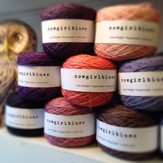 Cowgirlblues hand-dyed yarns at Loop, London.