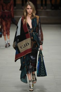 Cara Delevingne made the cape a trend again walking the runway for Burberry Prorsum Fall 2014.