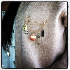 Sweater Closure Earthy Jewelry Shawl Pin Sage Green Fern Scarf Pin Gift Idea Artisan Pin Ready to ship Knitwear Accessory