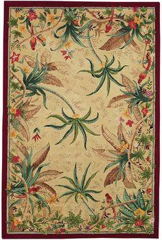 Tropical Birds area rug