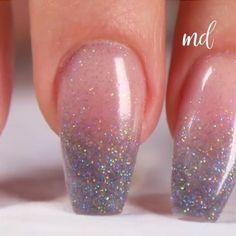 Manicure Colors, Gel Manicure, Nail Art Diy, Diy Nails, Diy Art, Natural Nail Art, Natural Manicure, Sparkle Nails, Glitter Nails