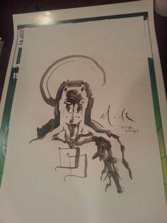Daredevil original art by David Mack. Chicago Comic Con 2012.