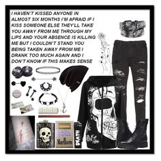 """""""< / 3"""" by meow-im-dead-inside ❤ liked on Polyvore featuring Alice + Olivia, Frye, Burton, Hot Topic and VidaKush"""