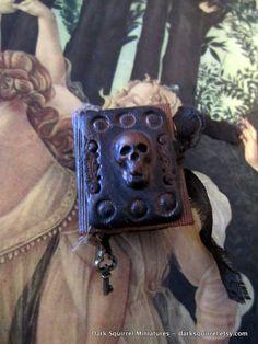 Skull Study Altered Art Book miniature in 1/6 scale