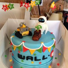 Wall E Themed Cake