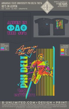 Phi Delta Theta 80's in Aspen Mixer Shirt | Fraternity Event | Greek Event #phideltatheta #phidelt Phi Delta Theta, Bid Day Themes, Mixers, Fraternity, Aspen, Greek, Shirts, Dress Shirts, Greece
