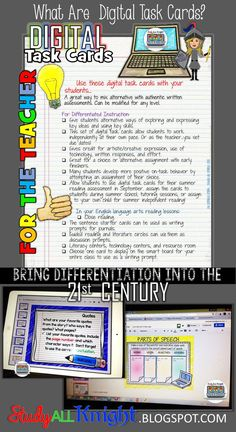 What Are Digital Task Cards? Bring Differentiation into the 21st Century
