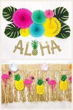 Tropicale Party Costume scegliere Colore 11 48 GHIRLANDE HAWAIANO Fiore Ile