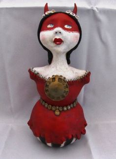 """""""oh, the devil of time..."""" art doll by amber leilani middleton. on her way to Dollirium in London, ON Canada...."""