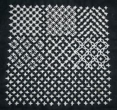 Hitomezashi Sashiko Muster » washi-and-silk