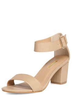 Nude Block Heel Sandals - Style Essentials Products - Clothing
