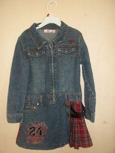 JLO  girls demin western style dress  6x