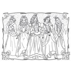 Leuk voor kids kleurplaat ~ De prinsesjes van Prinsessia