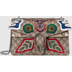 Gucci Dionysus Embroidered Shoulder Bag ($3,495) ❤ liked on Polyvore featuring bags, handbags, shoulder bags, gucci, women, purse shoulder bag, canvas handbags, brown shoulder bag, gucci purse and man bag