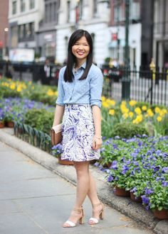Spring Mixed Print Outfit