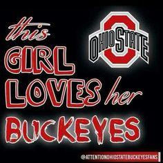 This girl loves her Buckeyes! College Football Teams, Oregon Ducks Football, Ohio State Football, Ohio State Buckeyes, American Football, Football Stuff, Football Memes, Oklahoma Sooners, Football Season