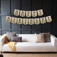 Instant Download - Happy Birthday Banner - Glitter Birthday Banner - Faux Glitter - Birthday Decorations - DIY Printable Banner $5