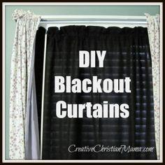 DIY Blackout Curtains from fleece.